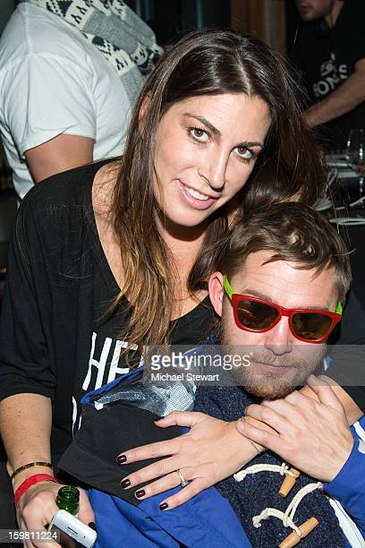 Fingerprint Communications President/CEO Jessica Meisels and Brian Geraghty attend Paige Hospitality Game Watch at Sky Bar on January 20 2013 in Park...