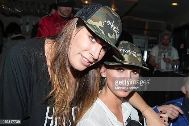 Fingerprint Communications President/CEO Jessica Meisels and stylist Jennifer Mazur attend Paige Hospitality Game Watch at Sky Bar on January 20 2013...