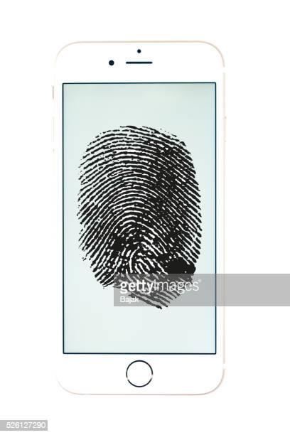 Fingerprint on apple iphone 6 gold