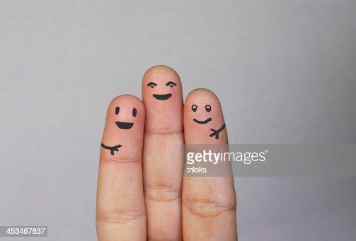 Dedos Família : Foto de stock