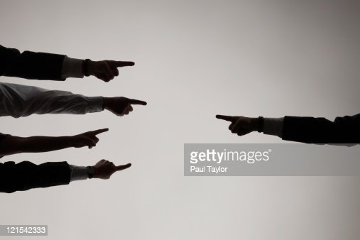 Fingers Pointing Each Other : Stock Photo