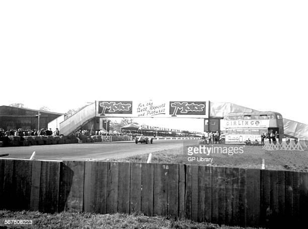 Finish line motor bridge panorama British GP Silverstone 1950