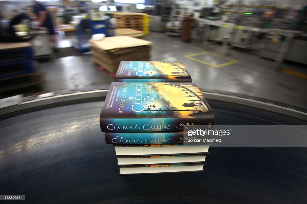 Finished copies of 'The Cuckoo's Calling' come off the print line on July 18, 2013 in Bungay, England. JK Rowling has recently been uncovered as the secret author of the new book 'The Cuckoo's Calling' after being published by Sphere under the pseudonym of 'Robert Galbraith.' Since the revelation, sales of the book have soared and the printers of the book, Clays, have had to start reprinting the book in large numbers.