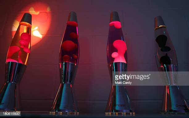 Finished lava lamps are shown on display at the Mathmos factory on September 12 2013 in Poole England The company based in Poole Dorset has been...