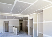 Finished Sheetrock in New Home Construction