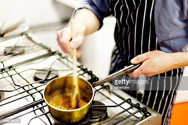 Terminer une sauce caramel
