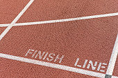 Finishing line of running track