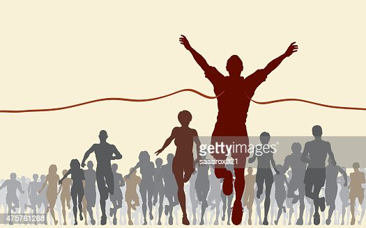 Finishing line : Stock Photo
