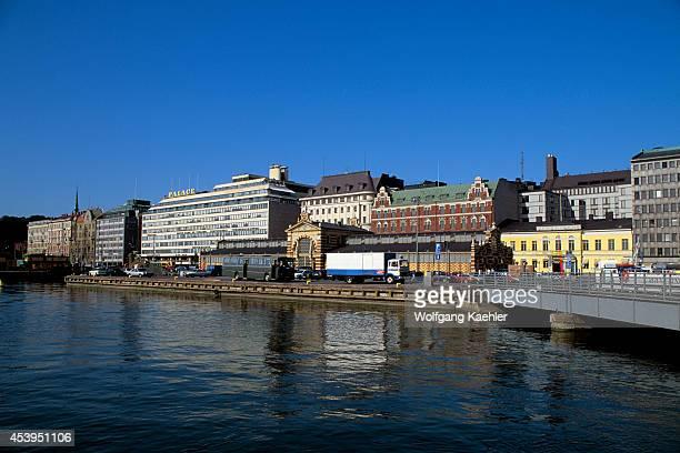 Finland Helsinki Downtown View Of Port