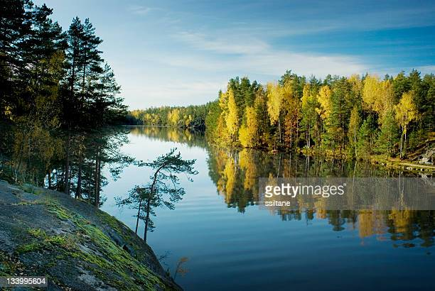 Finland lake autumn