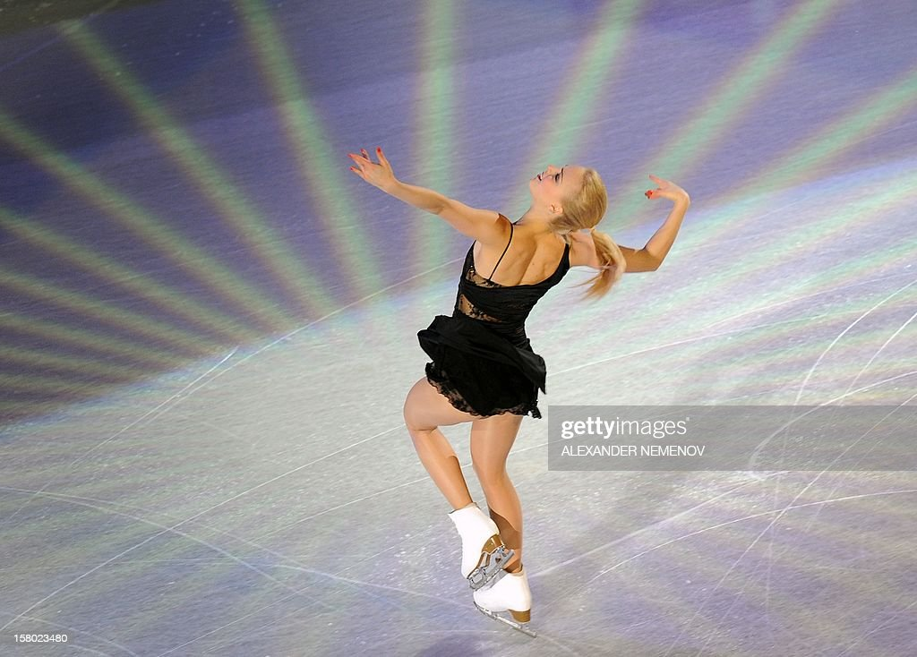 Finland's Kiira Korpi performs during gala exhibition at the ISU Grand Prix of Figure Skating Final in Sochi on December 9, 2012.AFP PHOTO / ALEXANDER NEMENOV
