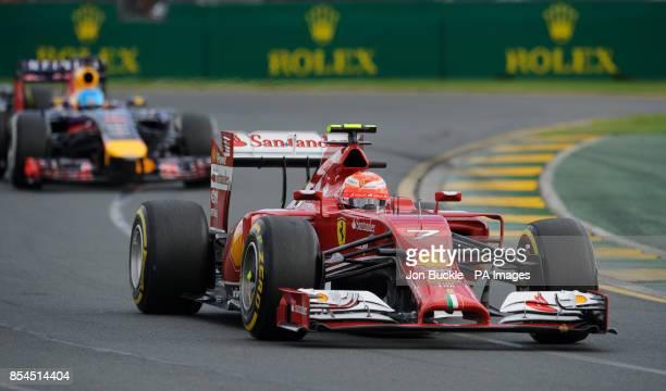 Finland's Kimi Raikkonen of Scuderia Ferrari during the 2014 Australian Grand Prix at Albert Park Melbourne Australia
