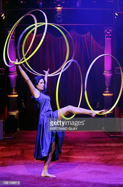 Finland's La Salima performs during the 'Prestige' Bouglione circus show at the Cirque d'Hiver in Paris on October 26 2010 AFP PHOTO / BERTRAND GUAY
