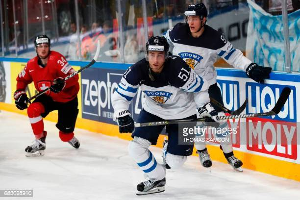 Finland's Valtteri Filppula vies for the puck during the IIHF Men's World Championship group B ice hockey match between Switzerland and Finland in...