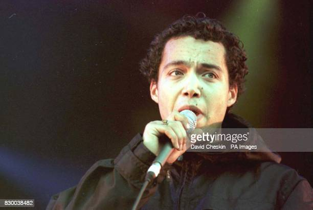 Finley Quaye on stage at the T in the park festival in Edinburgh tonight See PA story SHOWBIZ Festival Photo by David Cheskin/PA