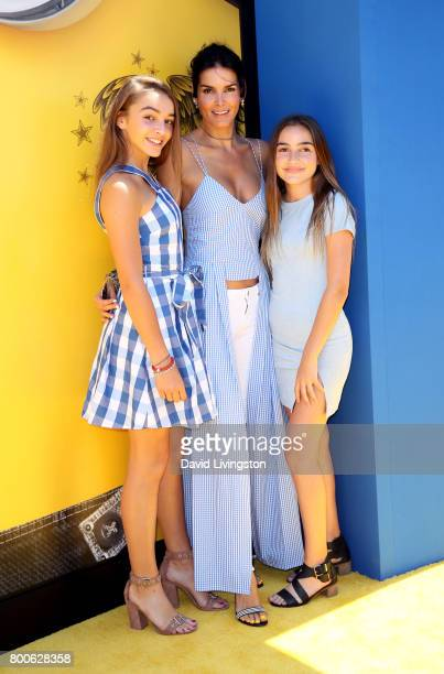 Finley Sehorn actress Angie Harmon and Avery Sehorn attend the premiere of Universal Pictures and Illumination Entertainment's 'Despicable Me 3' at...