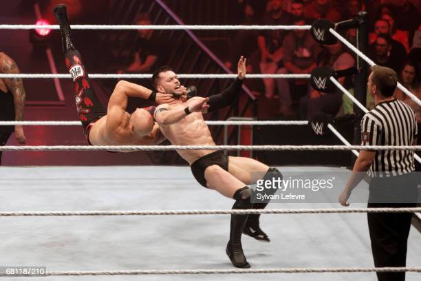 Finn Balor fights against Karl Anderson during WWE Live 2017 at Zenith Arena on May 9 2017 in Lille France