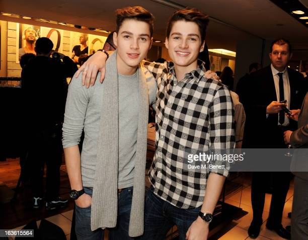 Finn Harries and Jack Harries attend the Panasonic Technics 'Shop To The Beat' Party hosted by George Lamb at French Connection Oxford Circus on...