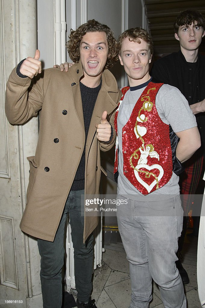 Finn Jones and Alfie Allen attends the Cuckoo Club and Show Pony pop up club at Grosvenor Place on November 24, 2012 in London, England.