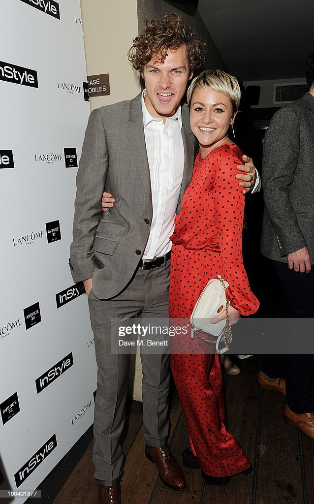 Finn Jones (L) and Jaime Winstone arrive at the InStyle Best Of British Talent party in association with Lancome and Avenue 32 at Shoreditch House on January 30, 2013 in London, England.