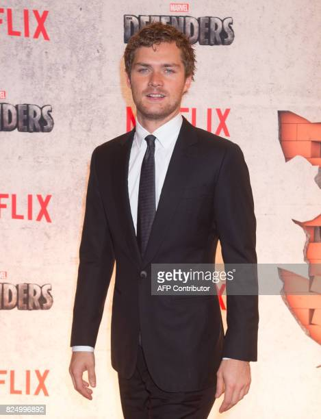Finn Jones arrives for the Netflix premiere of Marvel's 'The Defenders' on July 31 2017 in New York / AFP PHOTO / Bryan R Smith