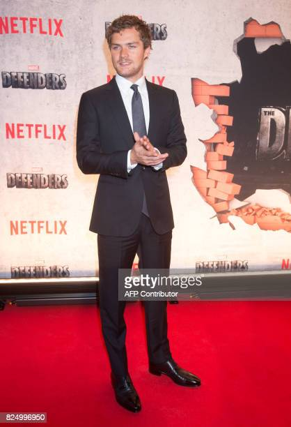 Finn Jones arrives for the Netflix premiere of Marvel's 'The Defenders' on July 31 2017 in New York / AFP PHOTO