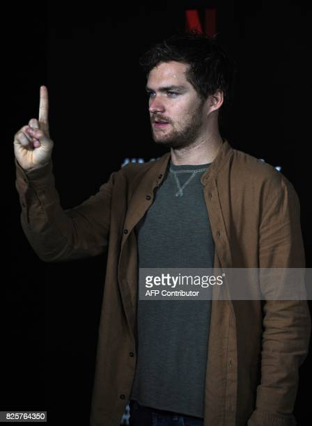 Finn Jones from the cast of Marvel's 'The Defenders' poses for photographs during a Netflix Red Carpet #ViveNetflix in Mexico City on August 02 2017...