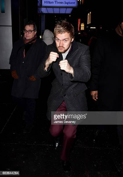 Finn Jones leaves Marvel's 'Iron Fist' New York screening at AMC Empire 25 on March 15 2017 in New York City