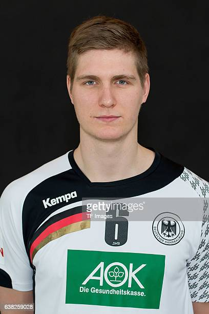 Finn Lemke of Germany poses during the handball national team of Germany presentation prior to the Handball World Championship in France on December...