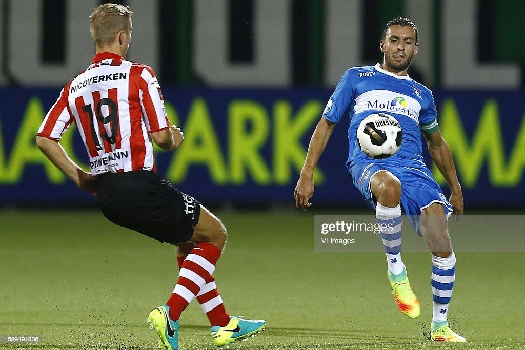 Finn Stokkers Bram van Polen during the Dutch Eredivisie match between PEC Zwolle and Sparta Rotterdam on august 13 2016 at the MAC#179PARK stadium...