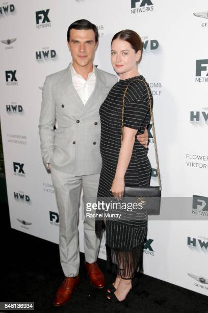 Finn Wittrock and Sarah Roberts attend FX Networks celebration of their Emmy nominees in partnership with Vanity Fair at Craft on September 16 2017...