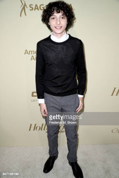 Finn Wolfhard attends The Hollywood Reporter and SAGAFTRA Inaugural Emmy Nominees Night presented by American Airlines Breguet and Dacor at the...