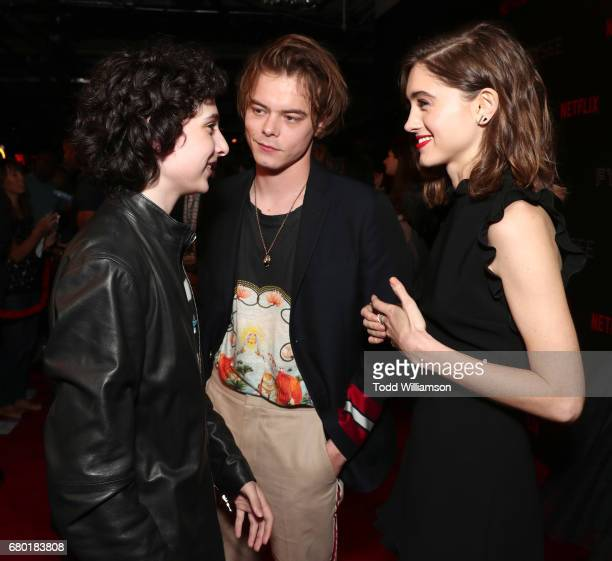 Finn Wolfhard Charlie Heaton and Natalie Dyer attend the Netflix FYSEE KickOff Event at Netflix FYSee Space on May 7 2017 in Beverly Hills California