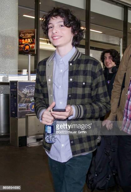 Finn Wolfhard is seen on November 03 2017 in Los Angeles California