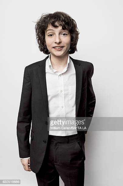 Finn Wolfhard poses for a portraits at the BAFTA Tea Party at Four Seasons Hotel Los Angeles at Beverly Hills on January 7 2017 in Los Angeles...