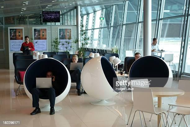 Finnair lounge at Helsinki International Airport
