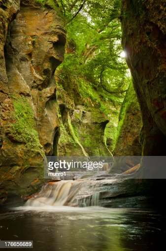 Finnich Glen Scotland : Stock Photo