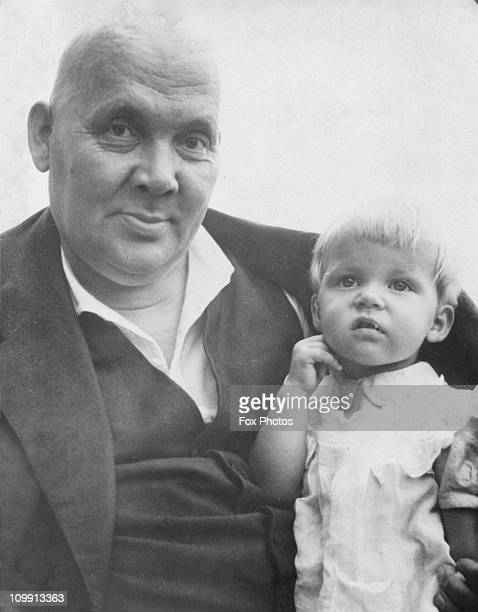 Finnish author and Nobel prizewinner Franz Eemil Sillanpaeae with his youngest daughter Christine 13th November 1939