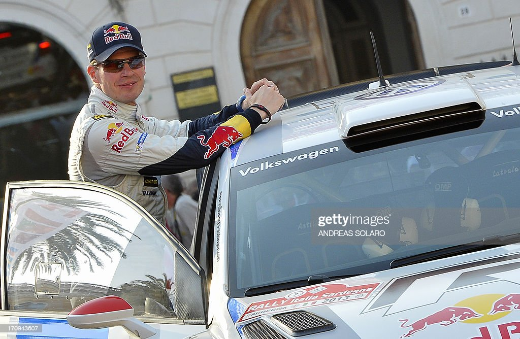 Finnish co-driver Mikka Anttila of Wolkswagen Polo R WRC looks on during the opening ceremony of the FIA World Rally Championship of Italy in Sassari, on the Italian island of Sardinia on June 20, 2013.