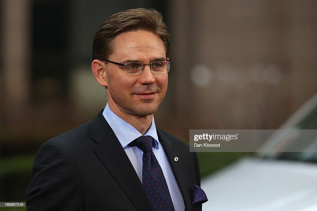Finnish Prime Minister <a gi-track='captionPersonalityLinkClicked' href=/galleries/search?phrase=Jyrki+Katainen&family=editorial&specificpeople=3014648 ng-click='$event.stopPropagation()'>Jyrki Katainen</a> arrives back at the headquarters of the Council of the European Union on February 8, 2013 in Brussels, Belgium. EU leaders have set out the framework for agreeing on a 2014-2020 EU budget during talks that continued through the night at the European Council Meetings in Brussels. The historic deal would see 34.4 billion Euros of EU spending cuts over the next 7 year period.