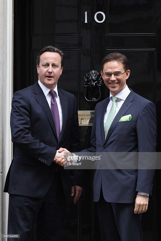 Prime Minister David Cameron Meets Finnish Prime Minister Jyrki Katainen
