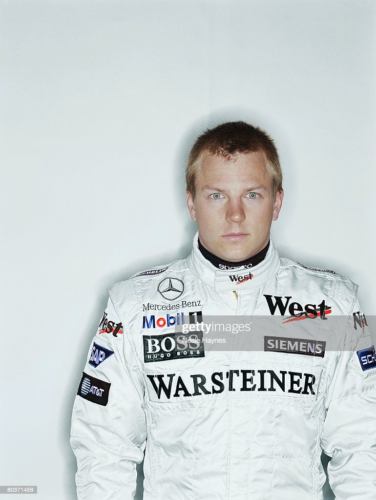 Finnish racing driver <a gi-track='captionPersonalityLinkClicked' href=/galleries/search?phrase=Kimi+Raikkonen&family=editorial&specificpeople=201904 ng-click='$event.stopPropagation()'>Kimi Raikkonen</a> in his McLaren Mercedes overalls, 28th March 2005.