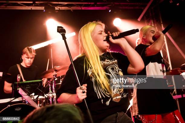 Finnish singer AlmaSofia Miettinen aka Alma performs live on stage during a concert at the Frannz on May 26 2017 in Berlin Germany