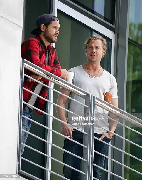 Finnish singer songwriter Samu Haber sighted at SAT1 television studio on June 9 2015 in Berlin Germany