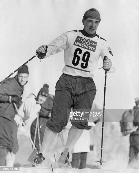 Finnish skier Eero Mantyranta competing in the Men's 30 km crosscountry skiing event at the Winter Olympics in Innsbruck Austria 31st January 1964...