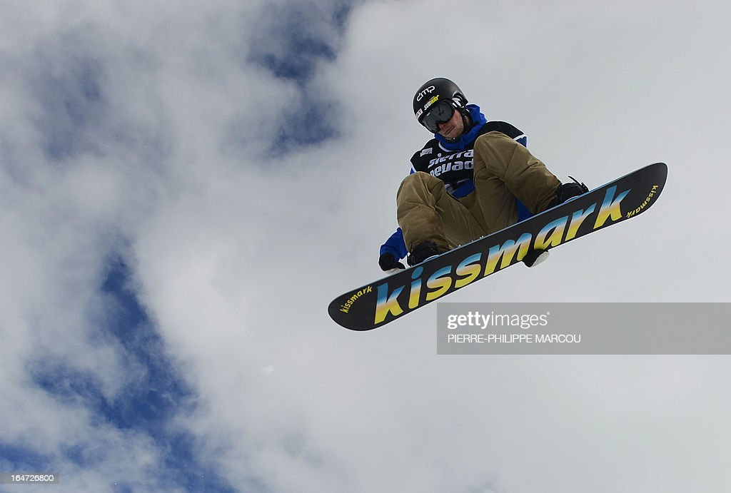 Finnish snowboarder Janne Korpi competes in the Men's Half-Pipe final race at the Snowboard and FreeStyle World Cup Super finals at Sierra Nevada ski resort near Granada on March 27, 2013. Janne Korpi won the race ahead of second-placed Japanese snowboarder Ayumu Nedefuji and third-placed Japanese snowboarder Shuhei Sato.