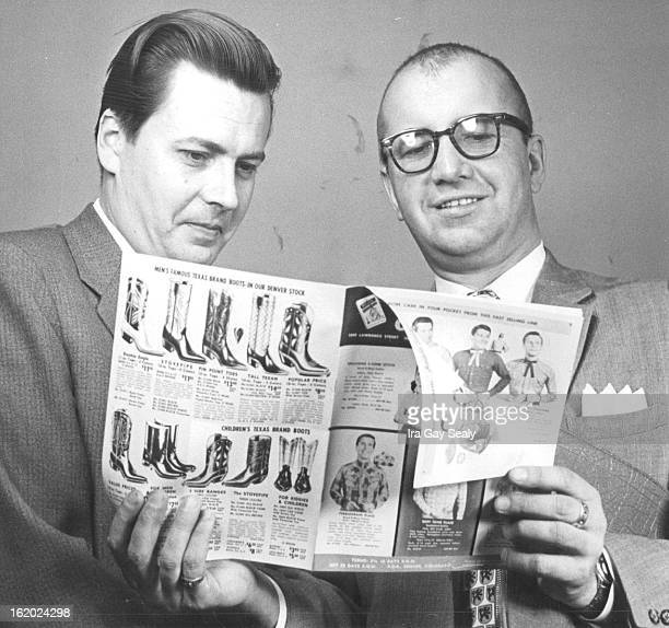 MAR 17 1959 MAR 19 1960 MAR 20 1960 Finnish Store Chief Looks Over 'Hot' Items for his Customers Gustav Lindblom checks catalogue with Randall A...