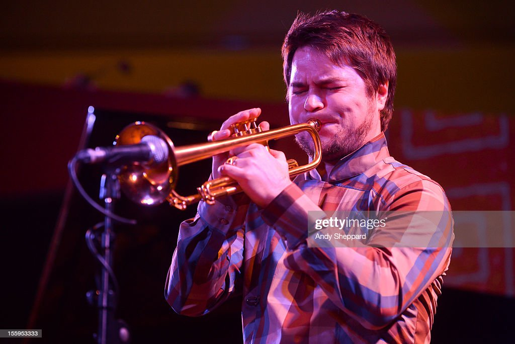 Finnish trumpeter Verneri Pohjola of Verneri Pohjola Quartet performs on stage at South Bank Centre during the London Jazz Festival 2012 on November 9, 2012 in London, United Kingdom.