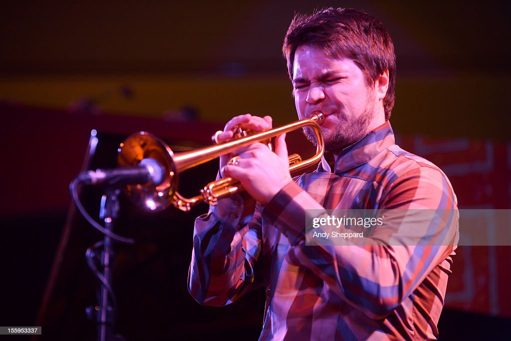 Finnish trumpeter Verneri Pohjola of Verneri Pohjola Quartet performs on stage at South Bank Centre during the London Jazz Festival 2012 on November 9, 2012 in London, United Kingdom.
