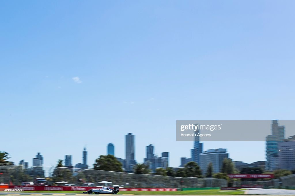 Finnish Valtteri Bottas #77 from the Williams Martini Racing team during the Friday Practice session at the Rolex Australian Formula 1 Grand Prix, Albert Park, Melbourne, Victoria Australia on March 12 2015.
